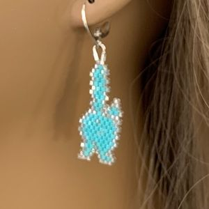 CAT BUTT Handcrafted Beaded Delica & SS Earrings
